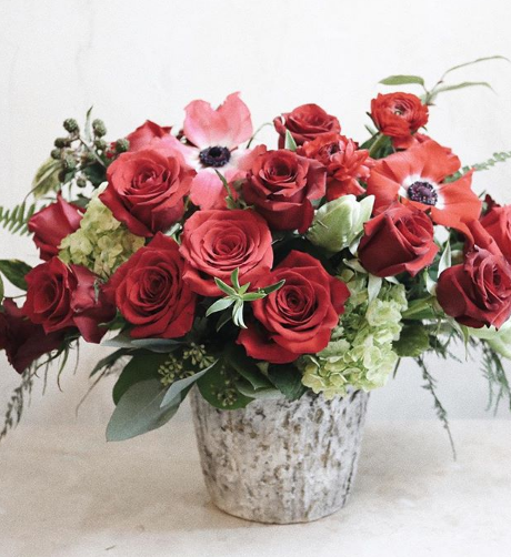 les fleurs andover. valentines red